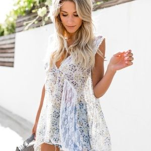Vici Collection Lace Floral Tank